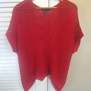 Beautiful red sparkly knit tunic like new